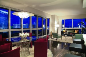 The Martin Luxury High Rise Condo Plan B Living Room